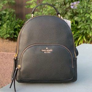 Kate Spade Jackson MD Black Leather Backpack